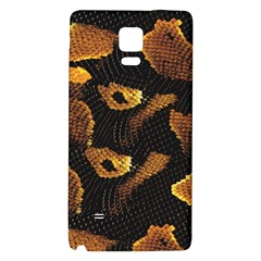 Gold Snake Skin Galaxy Note 4 Back Case by BangZart