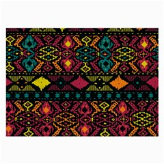 Bohemian Patterns Tribal Large Glasses Cloth (2 Side) by BangZart