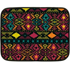 Bohemian Patterns Tribal Fleece Blanket (mini) by BangZart