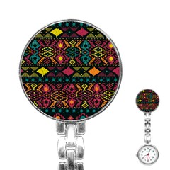 Bohemian Patterns Tribal Stainless Steel Nurses Watch by BangZart
