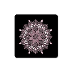 Ornate Mandala Square Magnet by Valentinaart