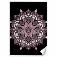 Ornate Mandala Canvas 12  X 18   by Valentinaart