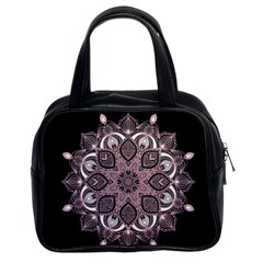 Ornate Mandala Classic Handbags (2 Sides) by Valentinaart