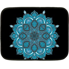 Ornate Mandala Fleece Blanket (mini) by Valentinaart