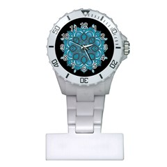 Ornate Mandala Plastic Nurses Watch