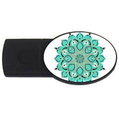 Ornate Mandala Usb Flash Drive Oval (2 Gb) by Valentinaart