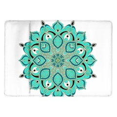 Ornate Mandala Samsung Galaxy Tab 10 1  P7500 Flip Case by Valentinaart