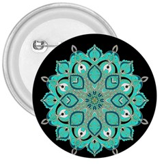 Ornate Mandala 3  Buttons by Valentinaart