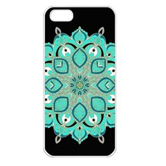 Ornate Mandala Apple Iphone 5 Seamless Case (white)