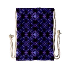 Lavender Moroccan Tilework  Drawstring Bag (small) by KirstenStar