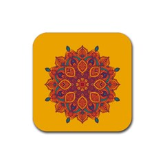 Ornate Mandala Rubber Coaster (square)  by Valentinaart