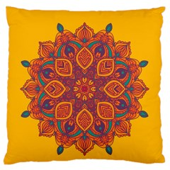 Ornate Mandala Large Cushion Case (one Side) by Valentinaart