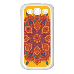 Ornate Mandala Samsung Galaxy S3 Back Case (white)