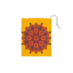 Ornate Mandala Drawstring Pouches (xs)  by Valentinaart