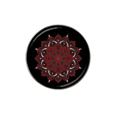Ornate Mandala Hat Clip Ball Marker