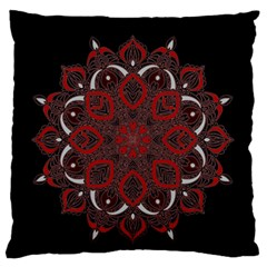 Ornate Mandala Large Cushion Case (two Sides) by Valentinaart