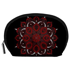 Ornate Mandala Accessory Pouches (large)  by Valentinaart