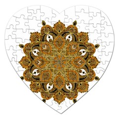 Ornate Mandala Jigsaw Puzzle (heart) by Valentinaart