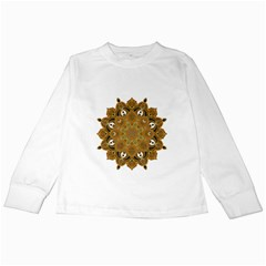 Ornate Mandala Kids Long Sleeve T Shirts by Valentinaart