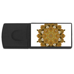 Ornate Mandala Usb Flash Drive Rectangular (4 Gb)
