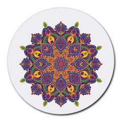 Ornate Mandala Round Mousepads by Valentinaart