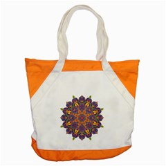 Ornate Mandala Accent Tote Bag by Valentinaart