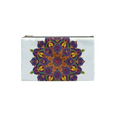 Ornate Mandala Cosmetic Bag (small)  by Valentinaart