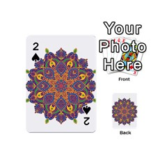 Ornate Mandala Playing Cards 54 (mini)  by Valentinaart
