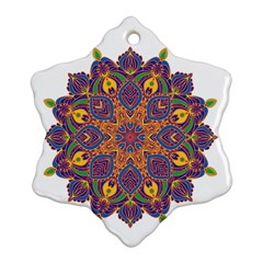 Ornate Mandala Snowflake Ornament (two Sides) by Valentinaart
