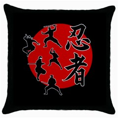 Ninja Throw Pillow Case (black)