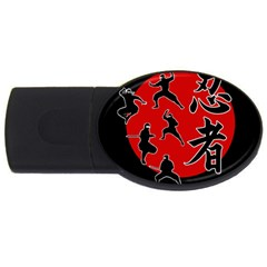 Ninja Usb Flash Drive Oval (4 Gb)