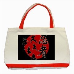 Ninja Classic Tote Bag (red) by Valentinaart