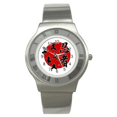 Ninja Stainless Steel Watch by Valentinaart