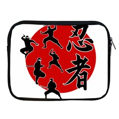 Ninja Apple Ipad 2/3/4 Zipper Cases by Valentinaart