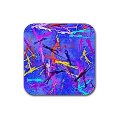 Paint Splashes                       Rubber Square Coaster (4 Pack by LalyLauraFLM