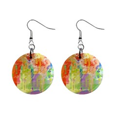 Paint Texture                        1  Button Earrings by LalyLauraFLM