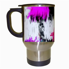 Colorful Blurry Paint Strokes                         Travel Mug (white) by LalyLauraFLM