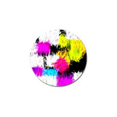Colorful Blurry Paint Strokes                         Golf Ball Marker (4 Pack) by LalyLauraFLM