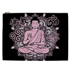 Ornate Buddha Cosmetic Bag (xxl)  by Valentinaart