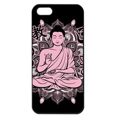 Ornate Buddha Apple Iphone 5 Seamless Case (black) by Valentinaart