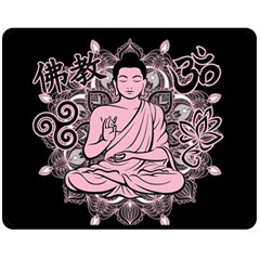 Ornate Buddha Double Sided Fleece Blanket (medium)