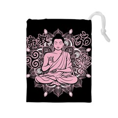 Ornate Buddha Drawstring Pouches (large)  by Valentinaart