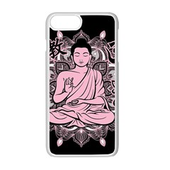 Ornate Buddha Apple Iphone 7 Plus White Seamless Case by Valentinaart