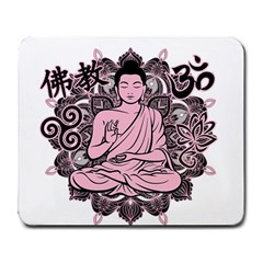 Ornate Buddha Large Mousepads by Valentinaart