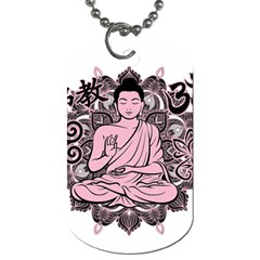 Ornate Buddha Dog Tag (one Side) by Valentinaart