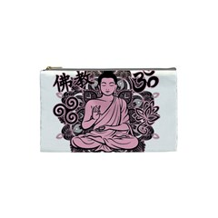Ornate Buddha Cosmetic Bag (small)  by Valentinaart