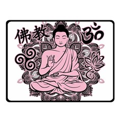 Ornate Buddha Fleece Blanket (small) by Valentinaart