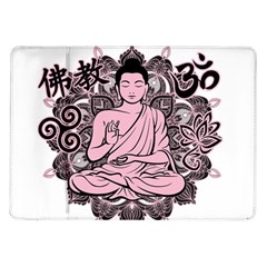 Ornate Buddha Samsung Galaxy Tab 10 1  P7500 Flip Case
