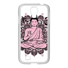 Ornate Buddha Samsung Galaxy S4 I9500/ I9505 Case (white) by Valentinaart