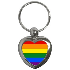 Pride Rainbow Flag Key Chains (heart)  by Valentinaart